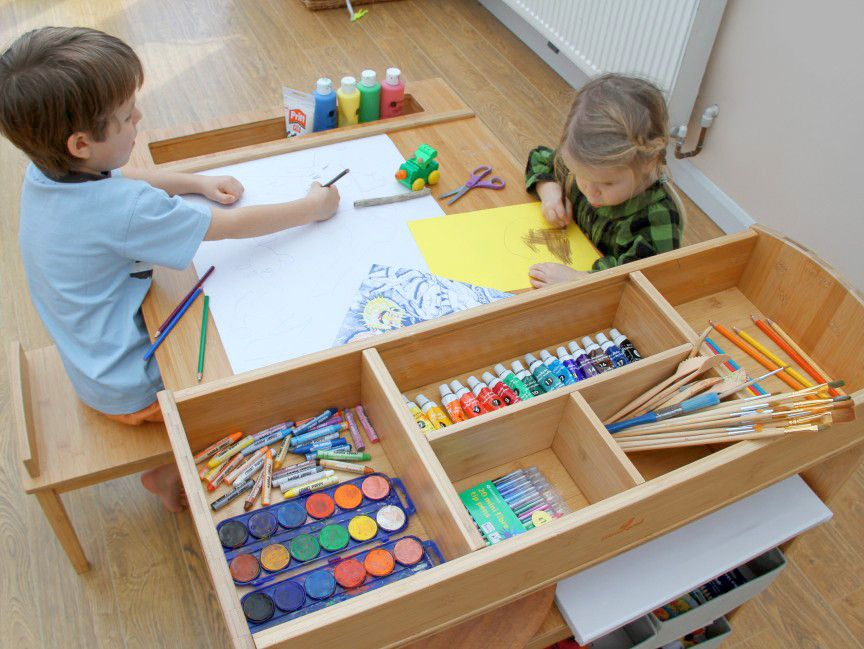 children's arts and crafts table and chairs | art and craft helps