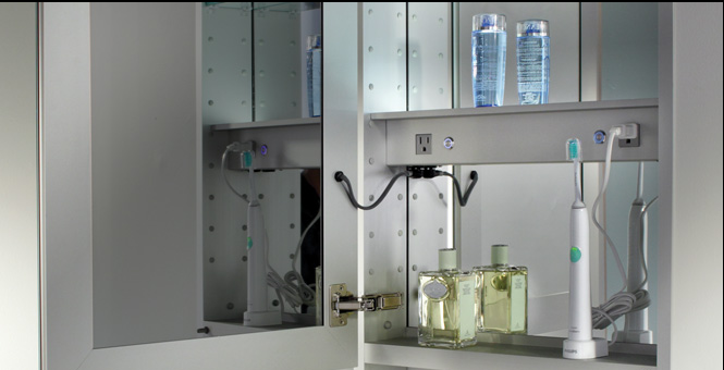 LuxuryMedicineCabinets.com, Mirrored Medicine Cabinets With Lights U0026  Electrical Outlets. Products By Glasscrafters