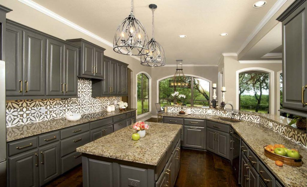 """Best Oak Cabinets Lacquered In Benjamin Moore's """"Kendall 400 x 300"""