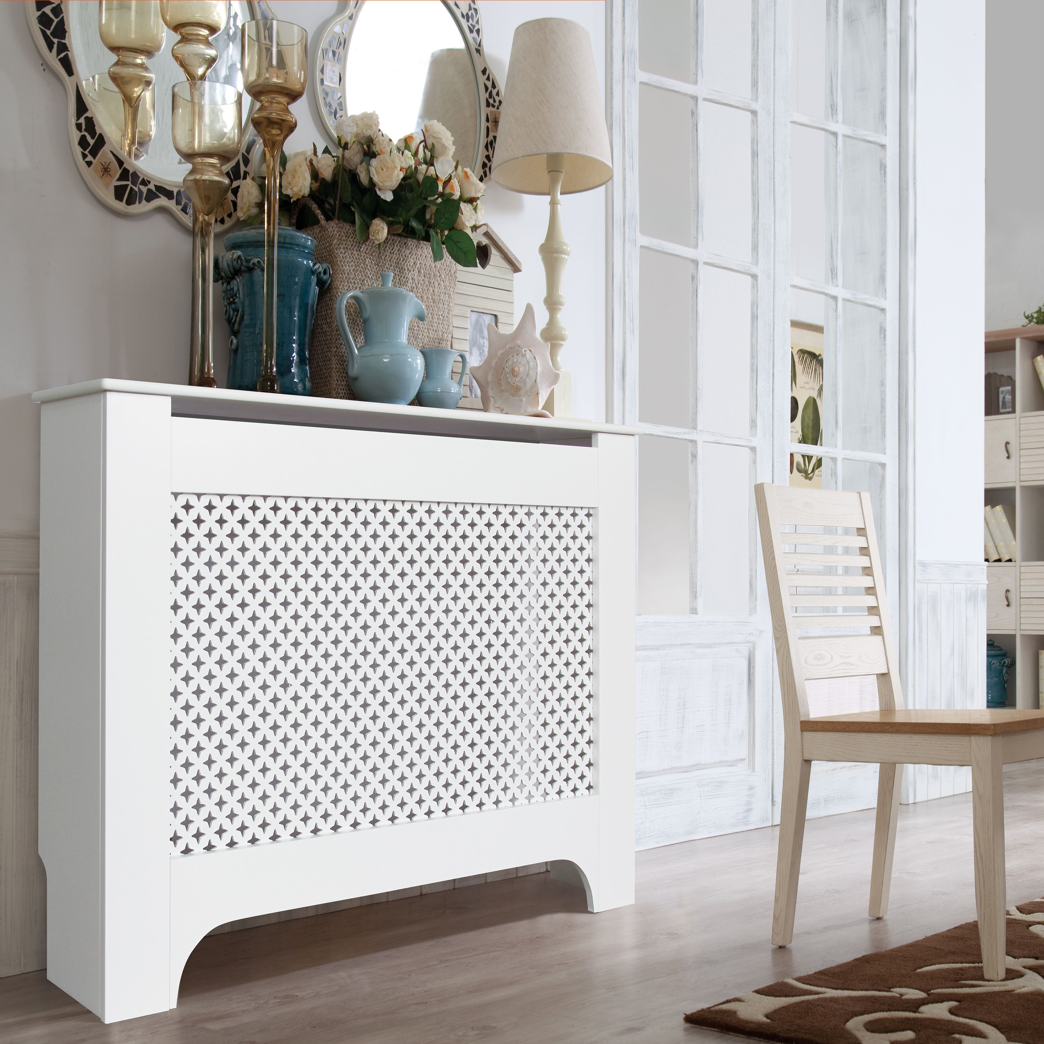 Medium White Painted Richmond Radiator Cover Departments Diy