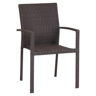 Target 60, Table 40 Threshold Afton Woven Patio Stacking Chair