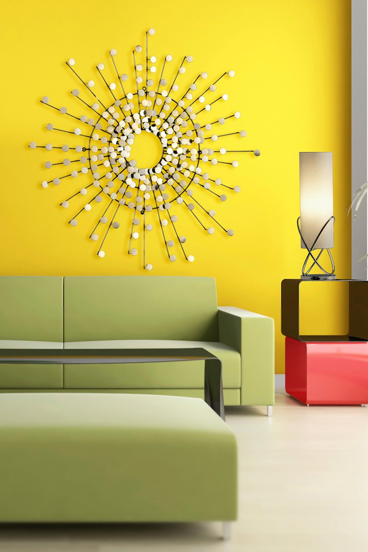 love the colors and starburst light | For my Abode | Pinterest ...