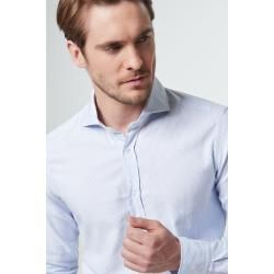 Smart-Shirt Lano in Hellblau gestreift windsorwindsor