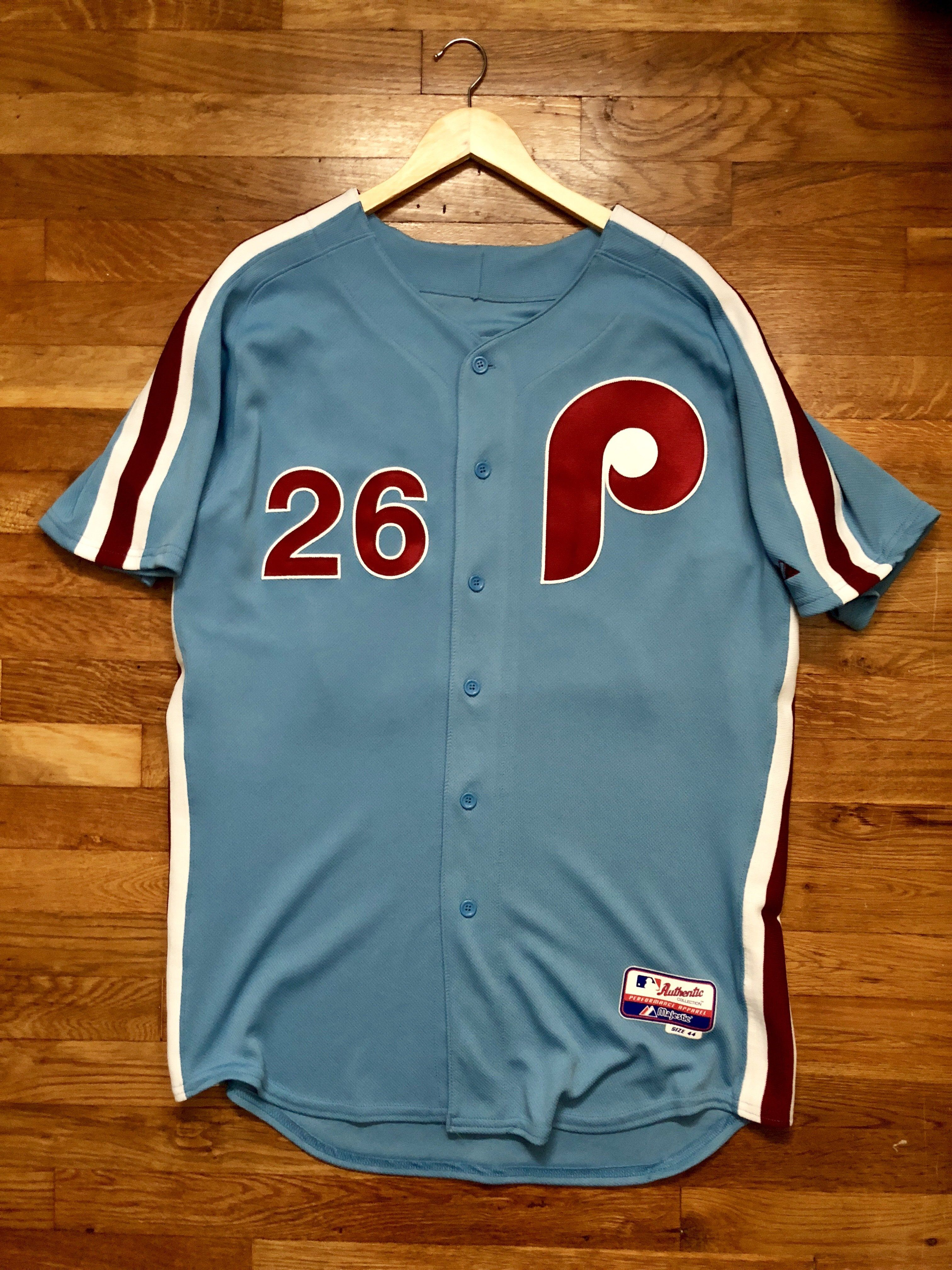 the latest 01f26 bf406 Chase Utley Philadelphia Phillies Retro Majestic Jersey 44 ...