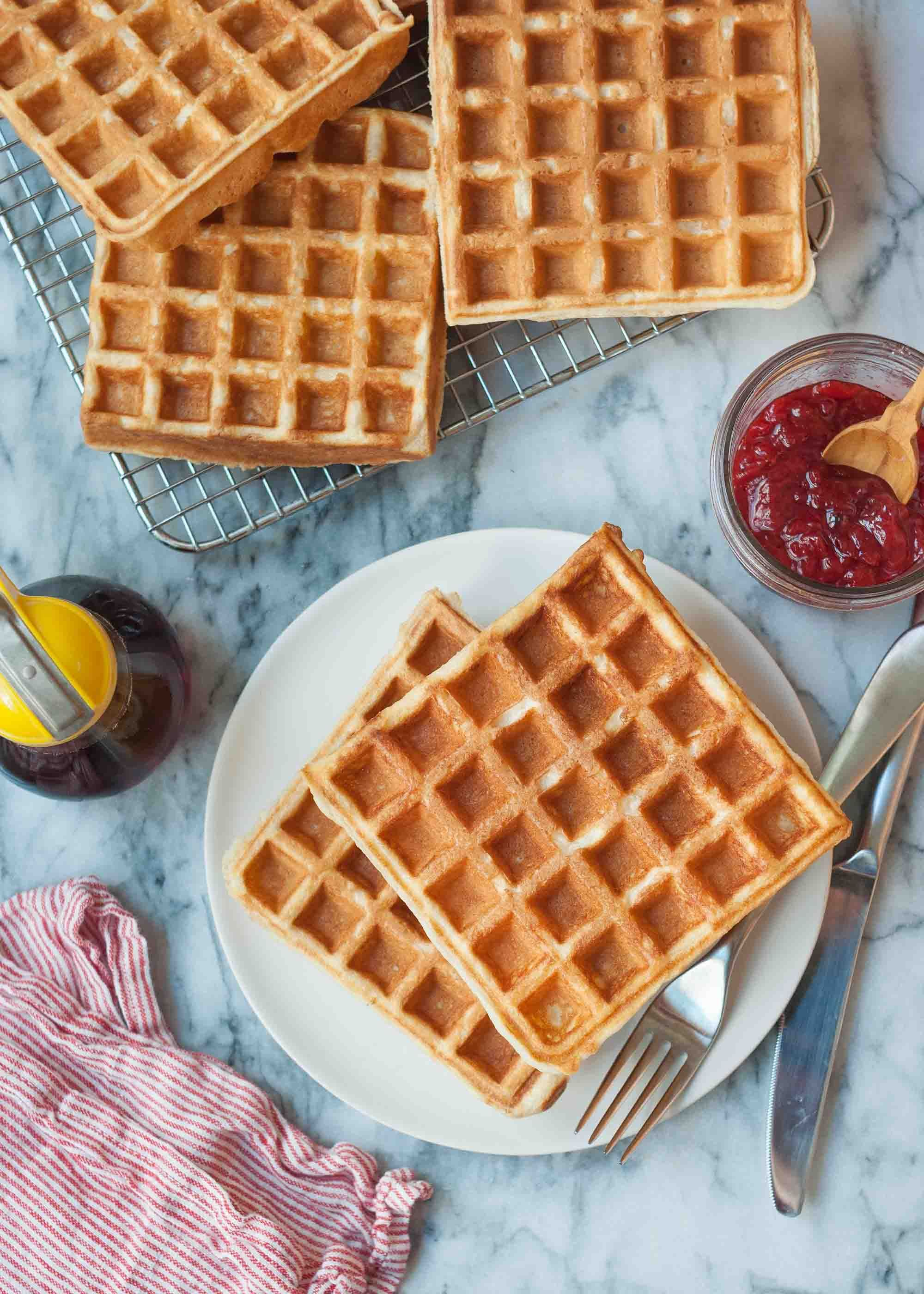 Buttermilk Waffle Recipe An Easy Classic Simplyrecipes Com Recipe Buttermilk Waffles Waffle Recipes How To Make Waffles