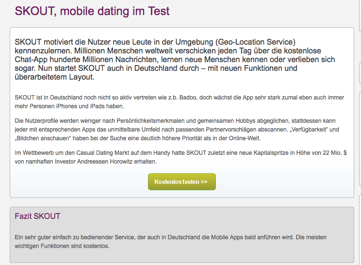 Skout mobile dating site