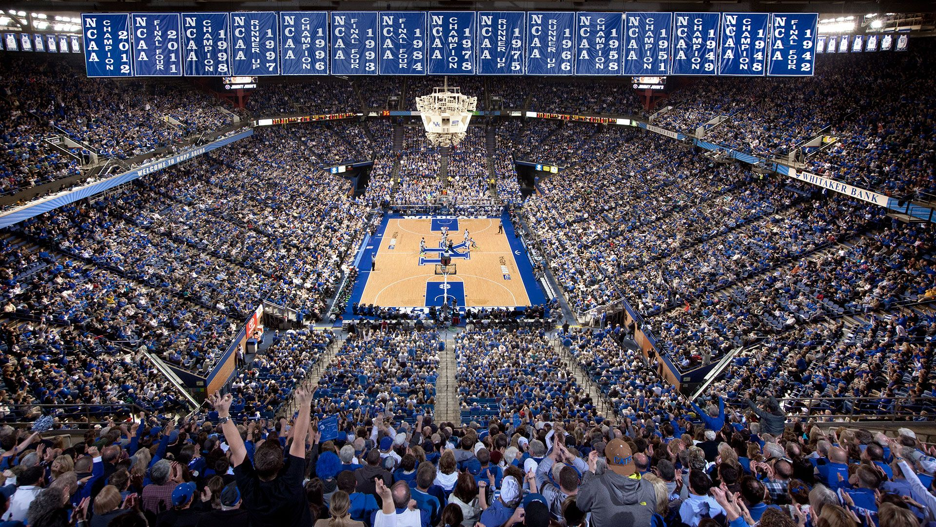 This Is An Image Showing The Inside Of Rupp Arena Which Is Where