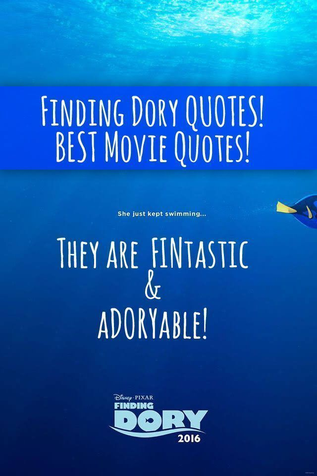 Dory Quotes Simple Finding Dory Quotes  Entire List Of The Best Movie Lines In The . Design Decoration