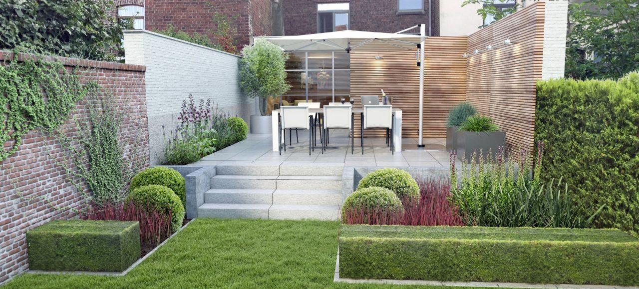 Idee kleine tuin met niveauverschil foto : Door #hoogteverschil in je #tuin, krijgt je tuin meer diepte ...