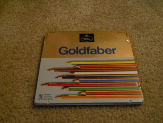 Vintage Goldfaber 4115 Tin With Pencils A W Faber Castell Etsy Colored Pencils Faber Castell Vintage