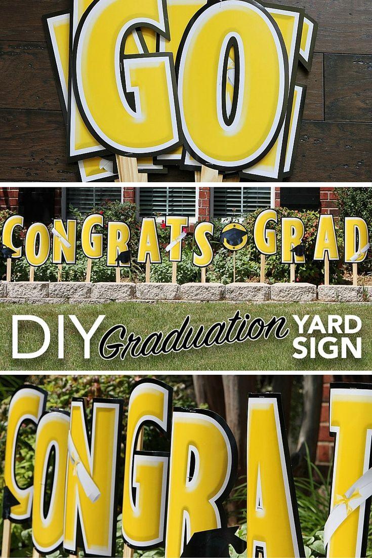 Diy graduation yard sign graduation diy graduation yard