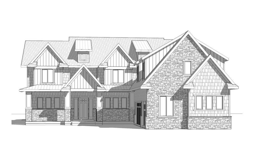 Sand Hollow - 2 Story Craftsman style house plan - Walker Home Design