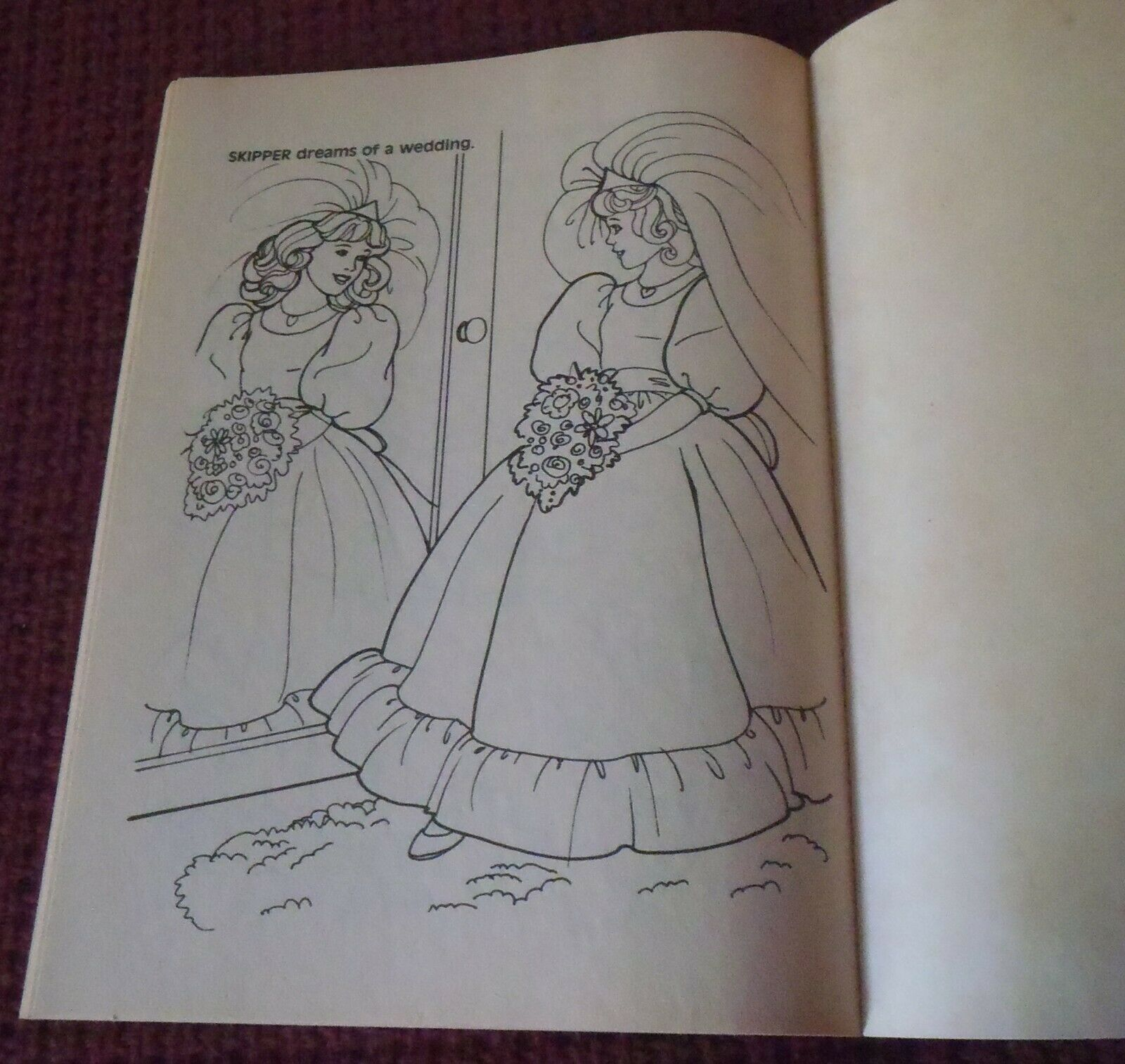 barbie  skipper wedding party coloring book golden mattel