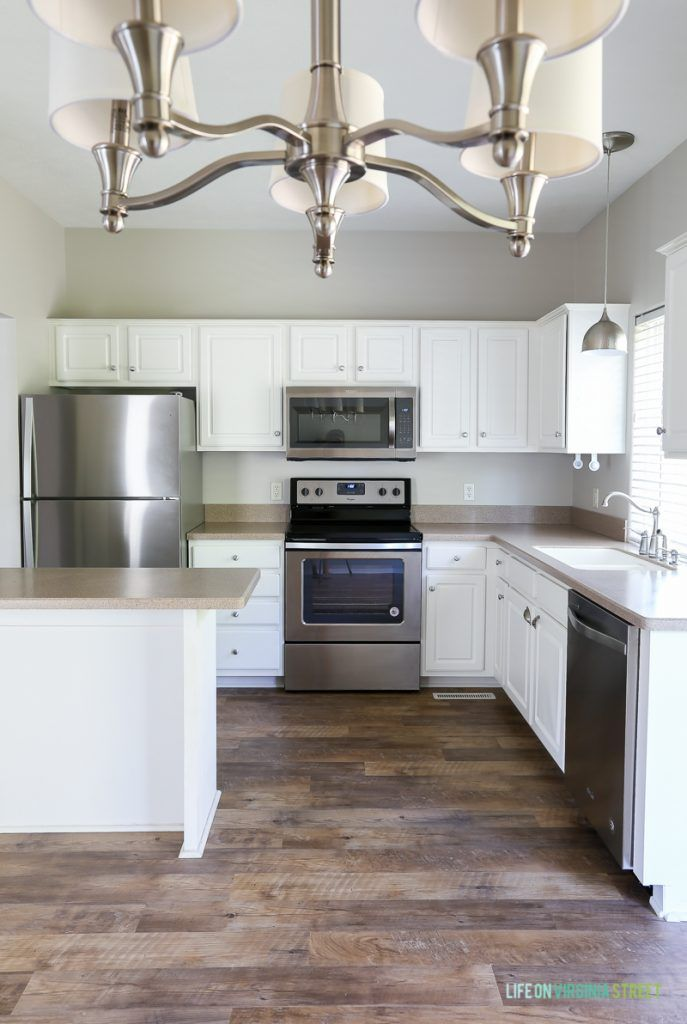 The Rental House Reveal | Grey kitchen walls, Home ...