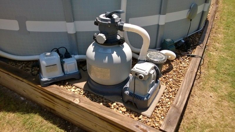 Pool Sand Filter hook up