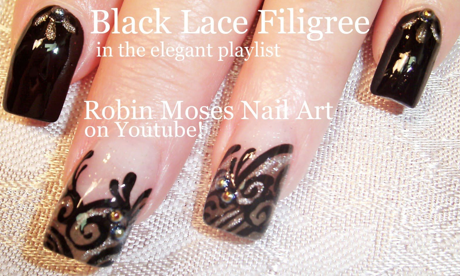 Nail Art Tutorial  Easy Nail design Ideas  Grey Veil with Black