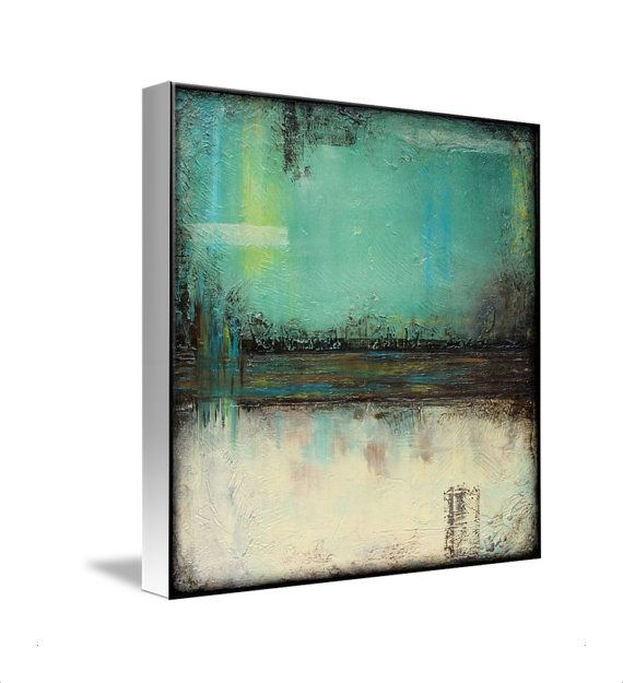 Sage Green And White Canvas Print Square Wall Art By Lizmosloft