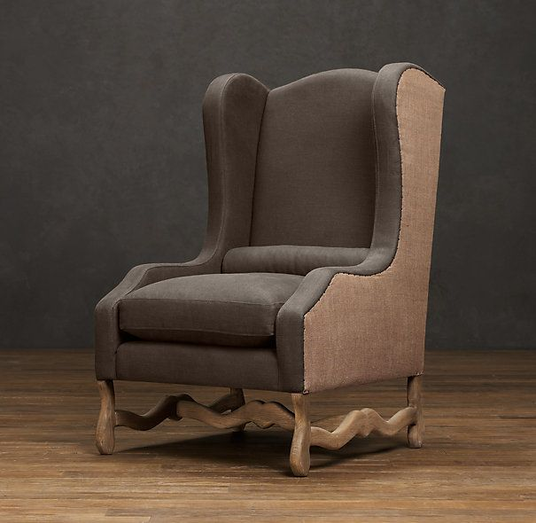 Os De Mouton Wingback Chair Home Living Room Wingback