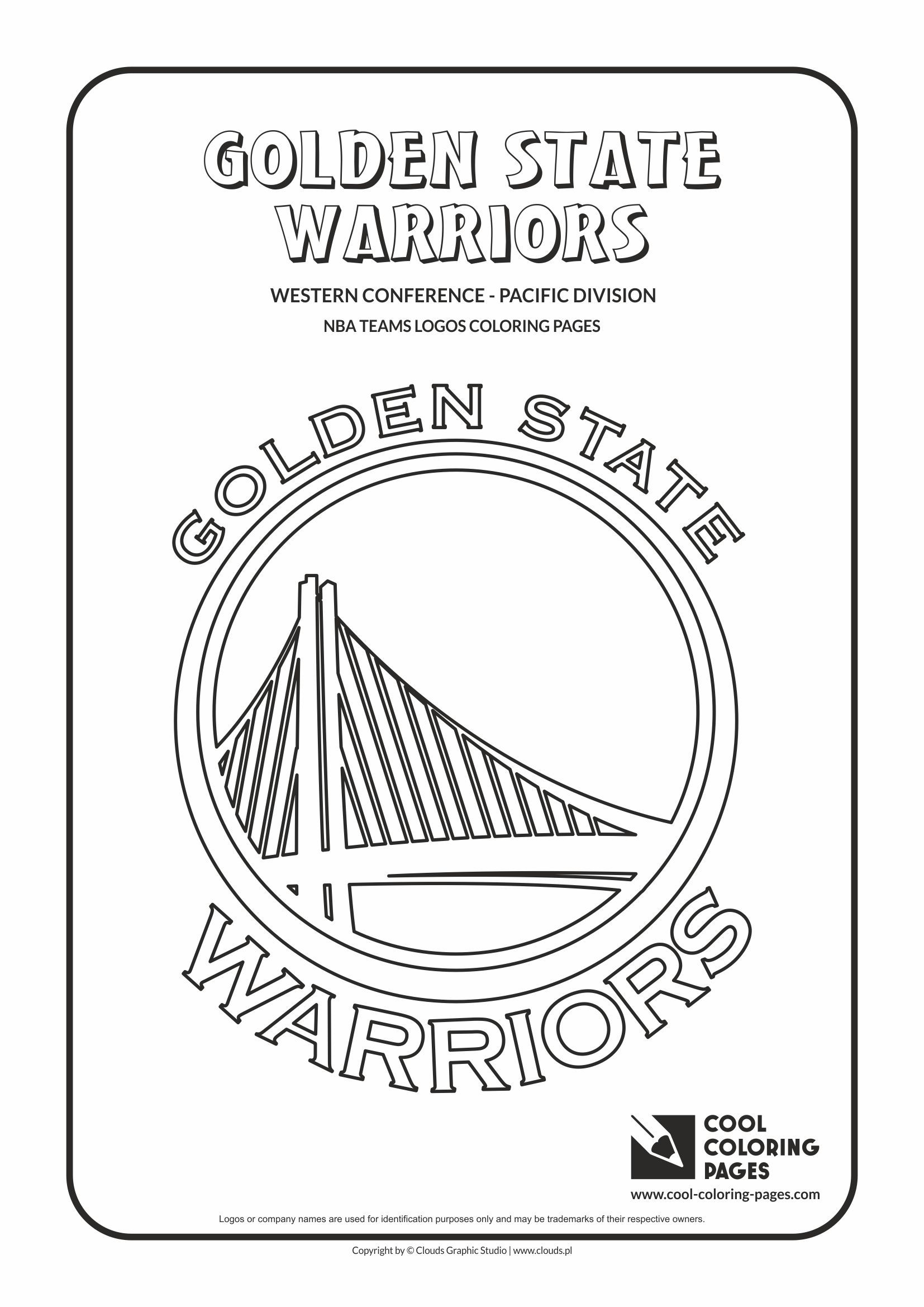 Coloring Pages Nba : Cool coloring pages nba basketball clubs logos western