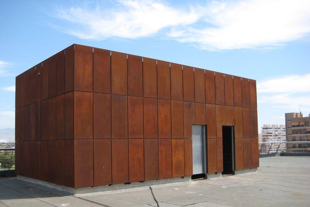 Forrado de fachadas elche naves ideas nave for Acero corten perforado oxidado