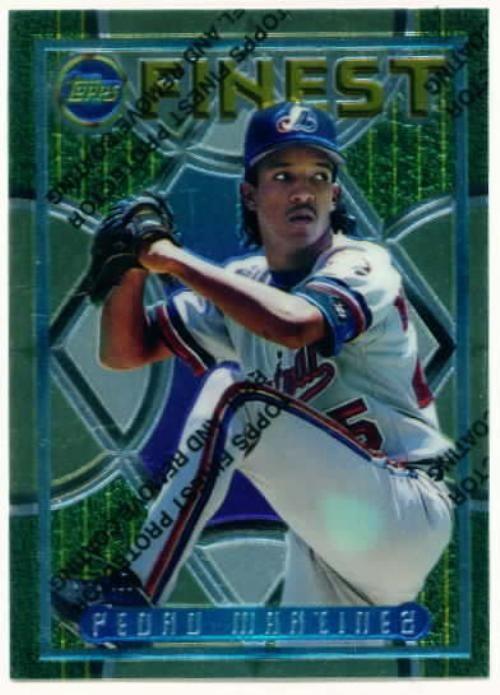 Pedro Martinez Rookie Card 1995 Topps Finest Pedro