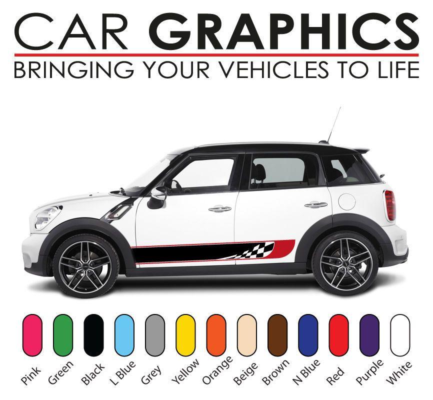 Mini Cooper Car Graphics Decals Stickers Vinyl Design Mn23