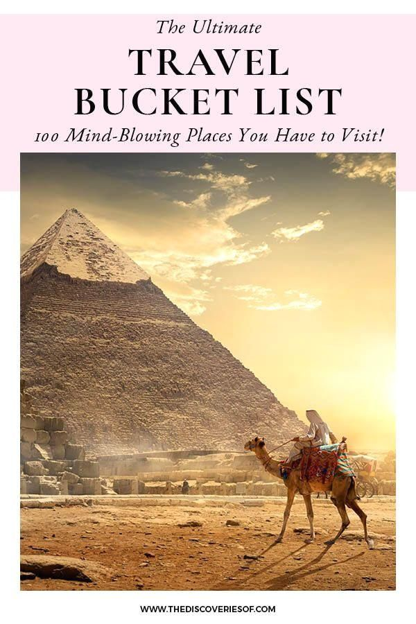 #traveldestinations  #bucketlist  #travel  #wanderlust  In need of some travel inspiration? Don't miss the ultimate travel bucket list - 100 places to visit before you die. How many have you seen? #epic #travel Check out my epic travel bucket list. 100 incredible travel destinations that will stuff your eyes with wonder!