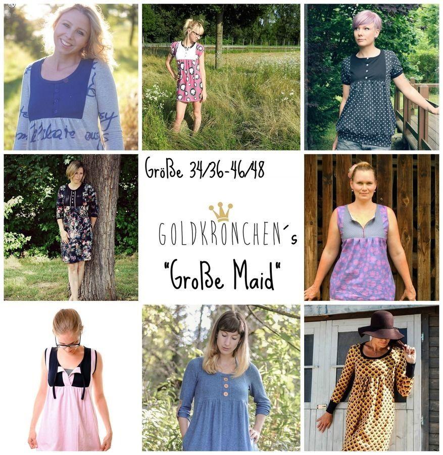 f83021070feba6 Große Maid Ebook, Shirt/ Kleid Gr.34/36-46/48 - Nähanleitungen bei ...