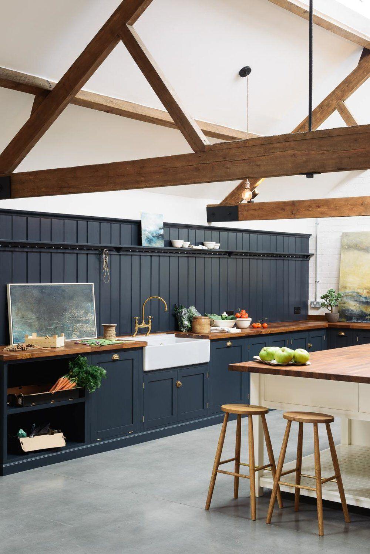 21+ Navy shaker style kitchen diy