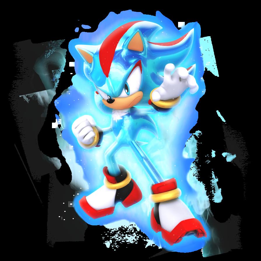 What If Shadow As Super Saiyan Blue By Nibroc Rock Sonic Super Saiyan Blue Super Shadow