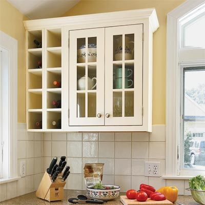 all about kitchen cabinets | custom wall, wine rack and wine