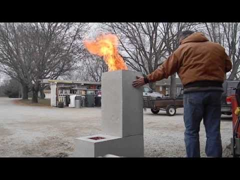Burning out the core on a new Rocket Stove - YouTube  rocket stoves  Pinterest