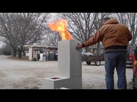 The 4 Block Rocket Stove Diy Rocket Stove Concrete Cinder