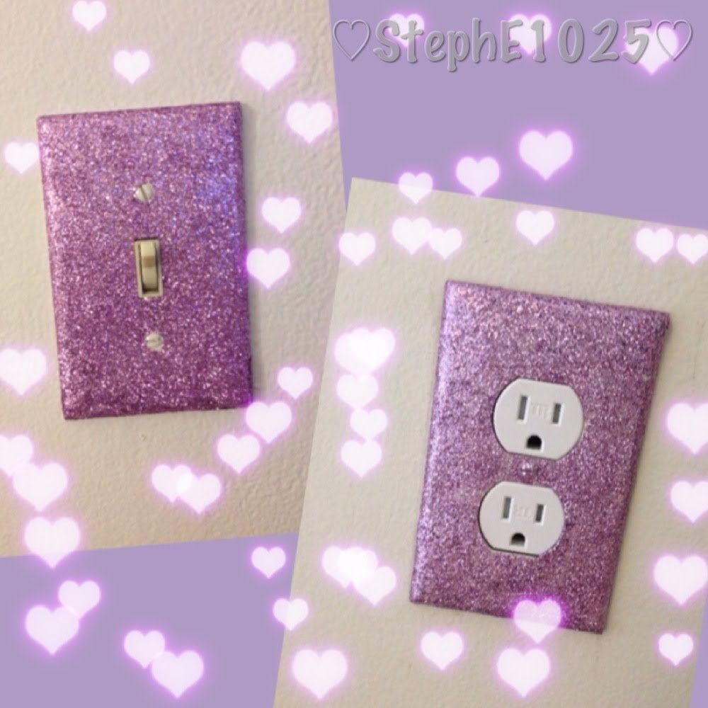 DIY:Glitter Wall Plates (pink or silver:) | Habitaciones | Pinterest ...
