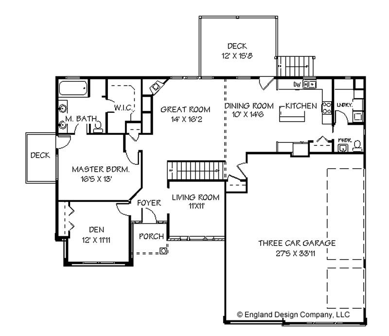 One Story Ranch House Plans Simple One Story House Plans