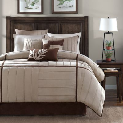 Madison Park Dune 7 Piece Comforter Set In Beige Comforter Sets Full Comforter Sets Bedroom Decor