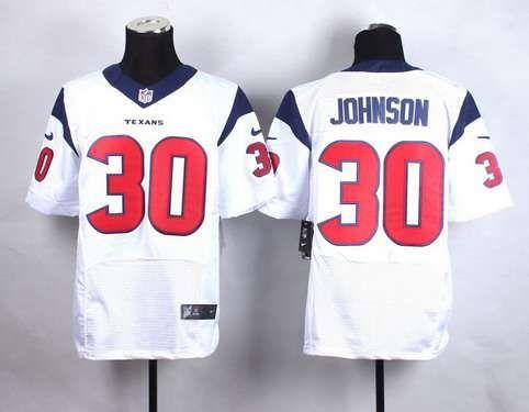 Men's Houston Texans #30 Kevin Johnson Nike White Elite Jersey