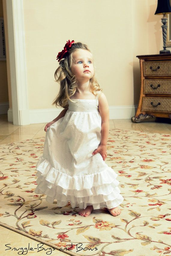 8e15a4268655 Flower Girl Dress - Daddy Daughter Ball - Fancy Dress - White Dress - Ball  Gown - Baptism Dress | ThingsTo Share w/Jessica ( : | Flower girl dresses,  ...