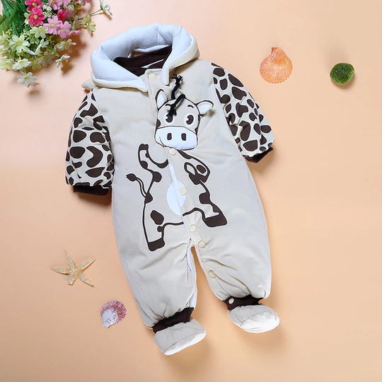 Newborn Baby Girls Boys Hooded Pajamas Infant Fashion Cartoon Fox Zipper Goodnight Romper Jumpsuit Outfits