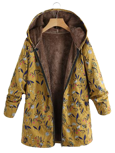 7b2894baa2e Fairymenco Abrigos florales para mujer Chaquetas de imitación de felpa  cálidas con capucha Prendas de abrigo  abrigodemujer  abrigo  modafemenina   capucha