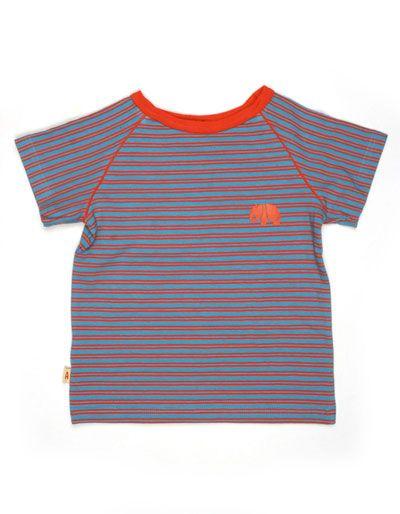 blauw rood gestreept shirt