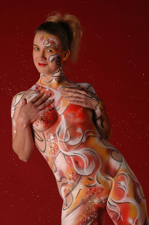 Tumblr Painted Whimsey Bodypainting - body painting sexy