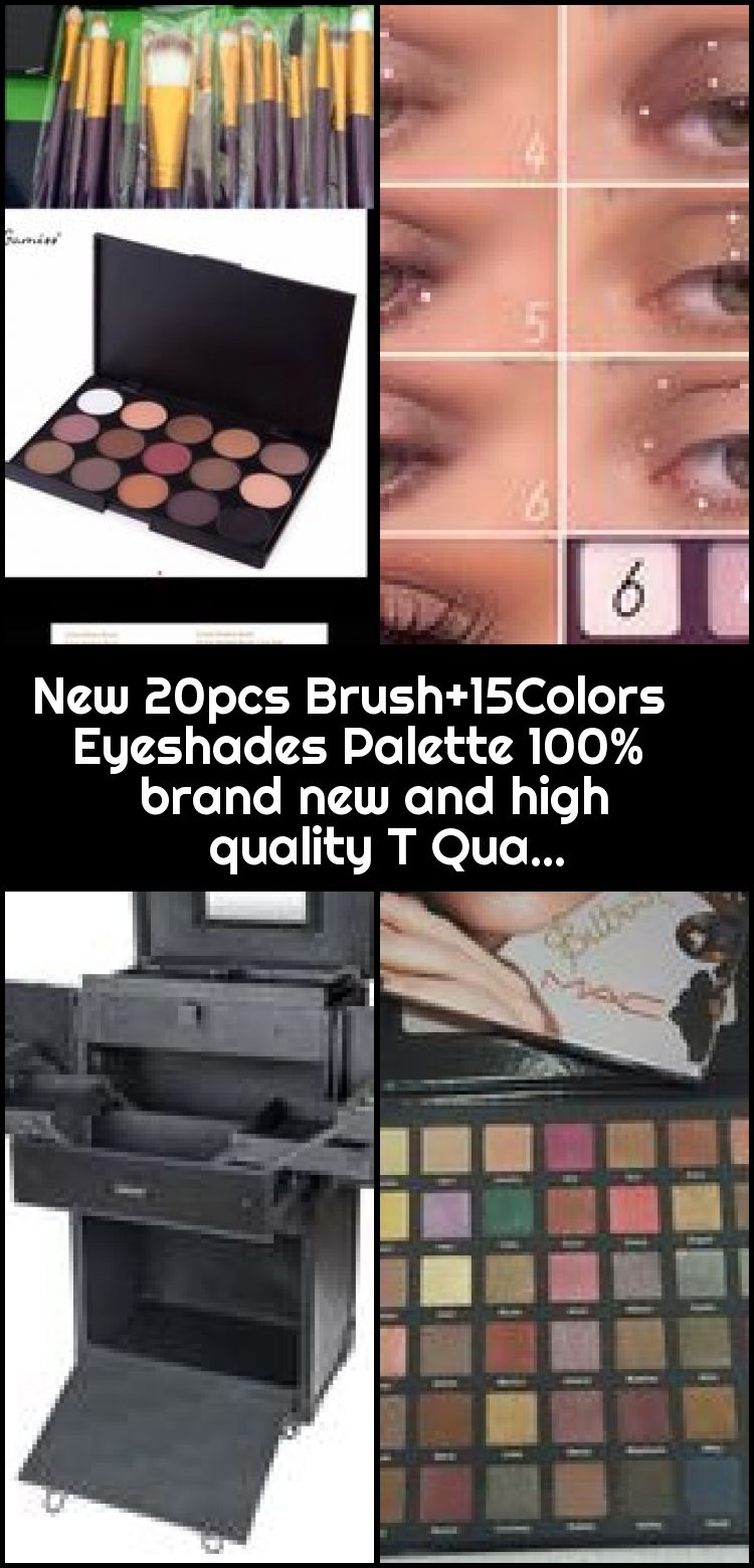 New 20pcs Brush 15colors Eyeshades Palette 100 Brand New And High