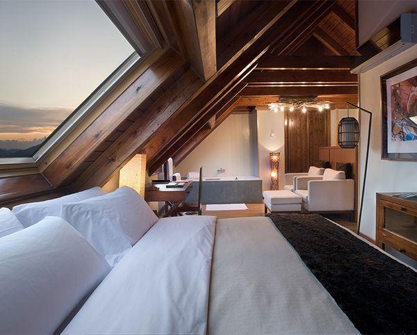 Dachboden Ideen, Dachboden Loft, Wohn Schlafzimmer, Schlafzimmer Ideen,  Dachgeschosse, Dachstuhl, Dachausbau, Holzhaus Bungalow, Kleines Wohndesign