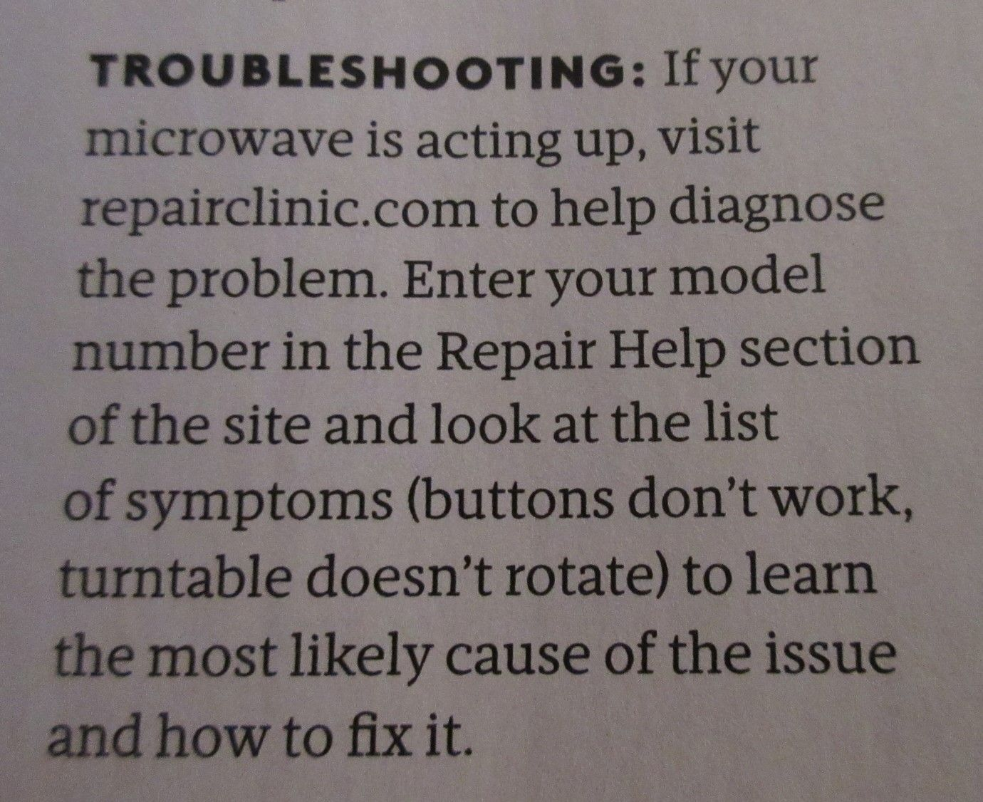 to help diagnose appliance problems