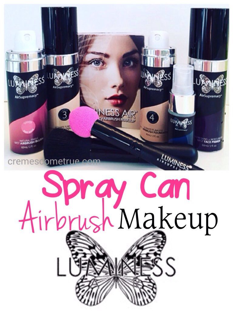 Airbrush makeup from spraycans...easy application