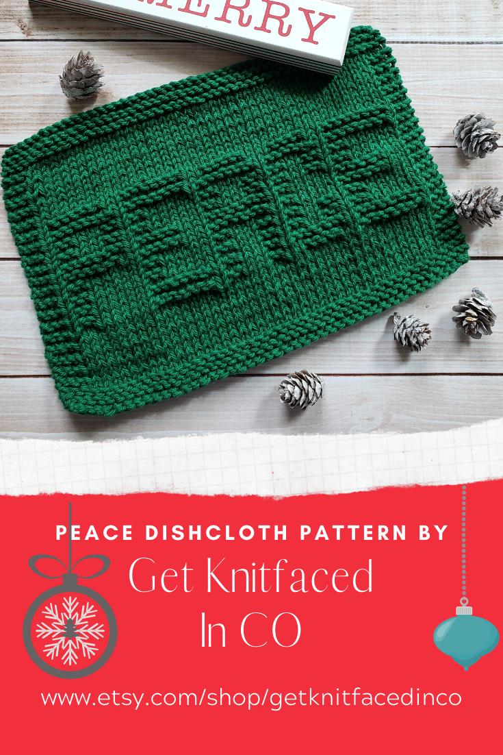 Instant Digital Download - Peace Knit Dishcloth PDF ...