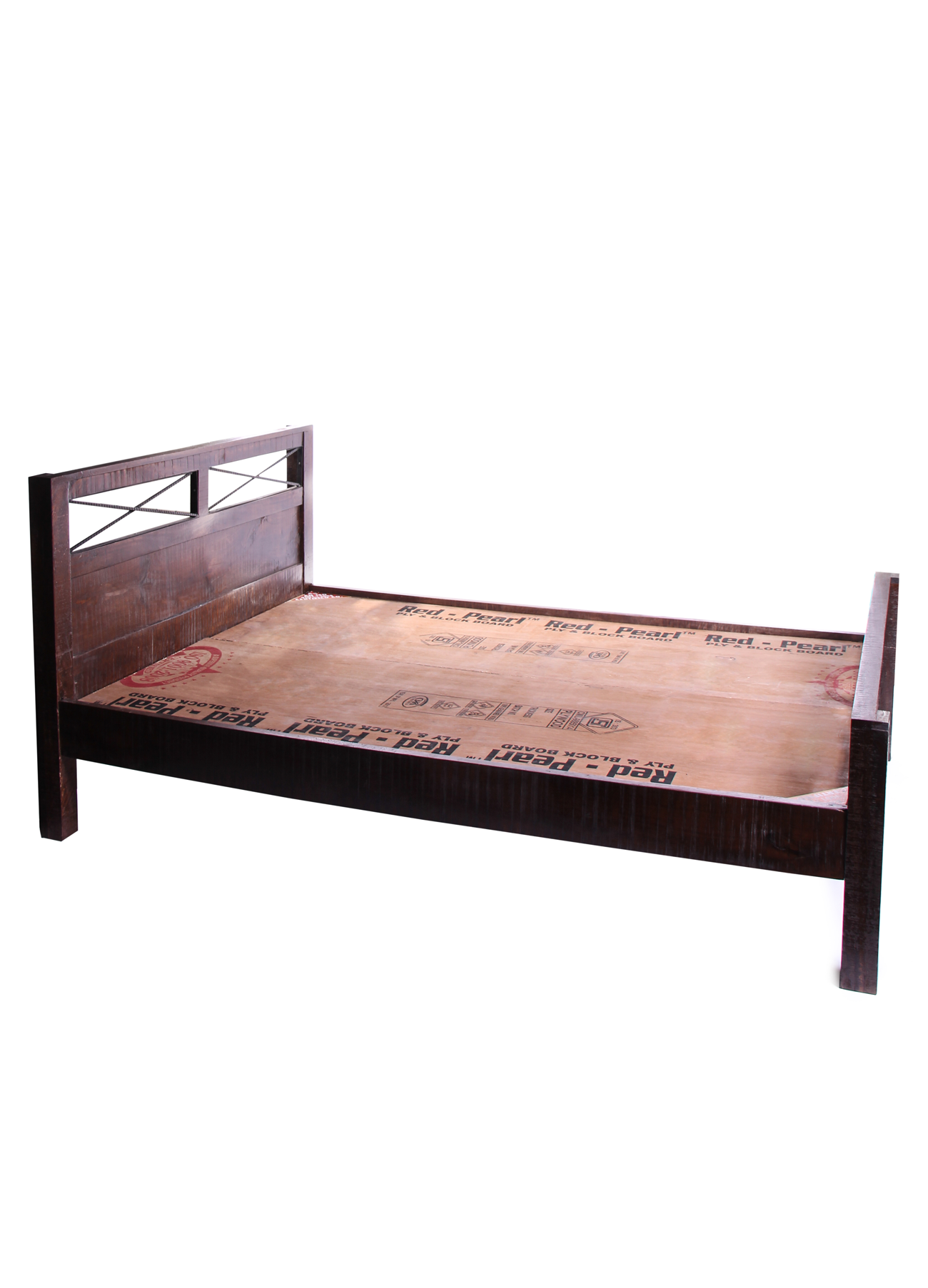 Wood/iron Queen Size Bed Frame. Also Available In King