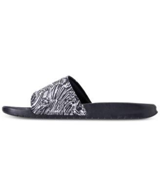 6466749d4a1036 Nike Men s Benassi Jdi Print Slide Sandals from Finish Line - Blue ...