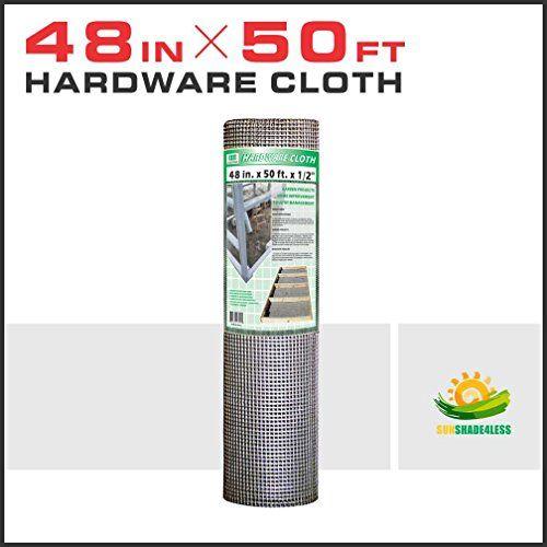 Windscreen4less 48-Inch x 50-Feet 19-Gauge 1/2-Inch-Mesh Galvanized ...